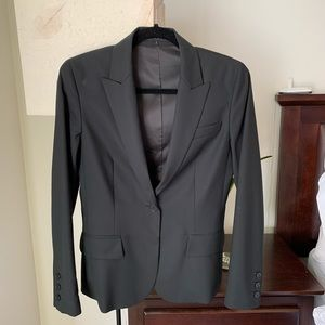Theory black wool blazer size 6